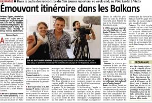 présentation du film Sur les pas d'Albert Londres dans les Balkans